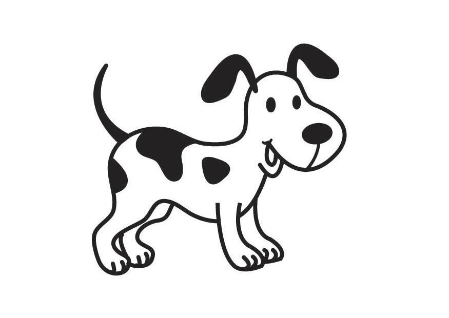 kleurplaat hond - afb 17890. images