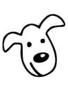Kleurplaat hondenkop