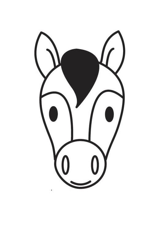 Google Kleurplaten Paarden.Kleurplaat Hoofd Paard Afb 18414