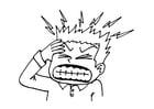 Kleurplaat hoofdpijn