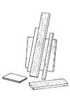 Kleurplaat houten planken