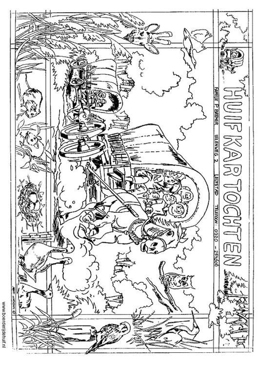 Kleurplaat Huifkar Afb 12174