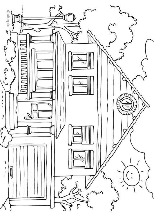 Kleurplaat Nieuw Huis Kleurplaat Huis Buitenkant Afb 25996