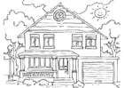 Kleurplaat huis - buitenkant