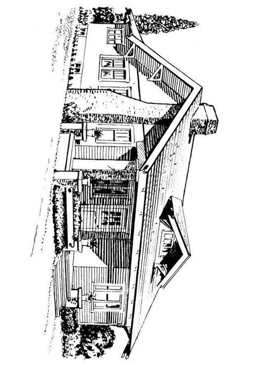 Kleurplaat Nieuw Huis Kleurplaat Huis Bungalow Afb 18813