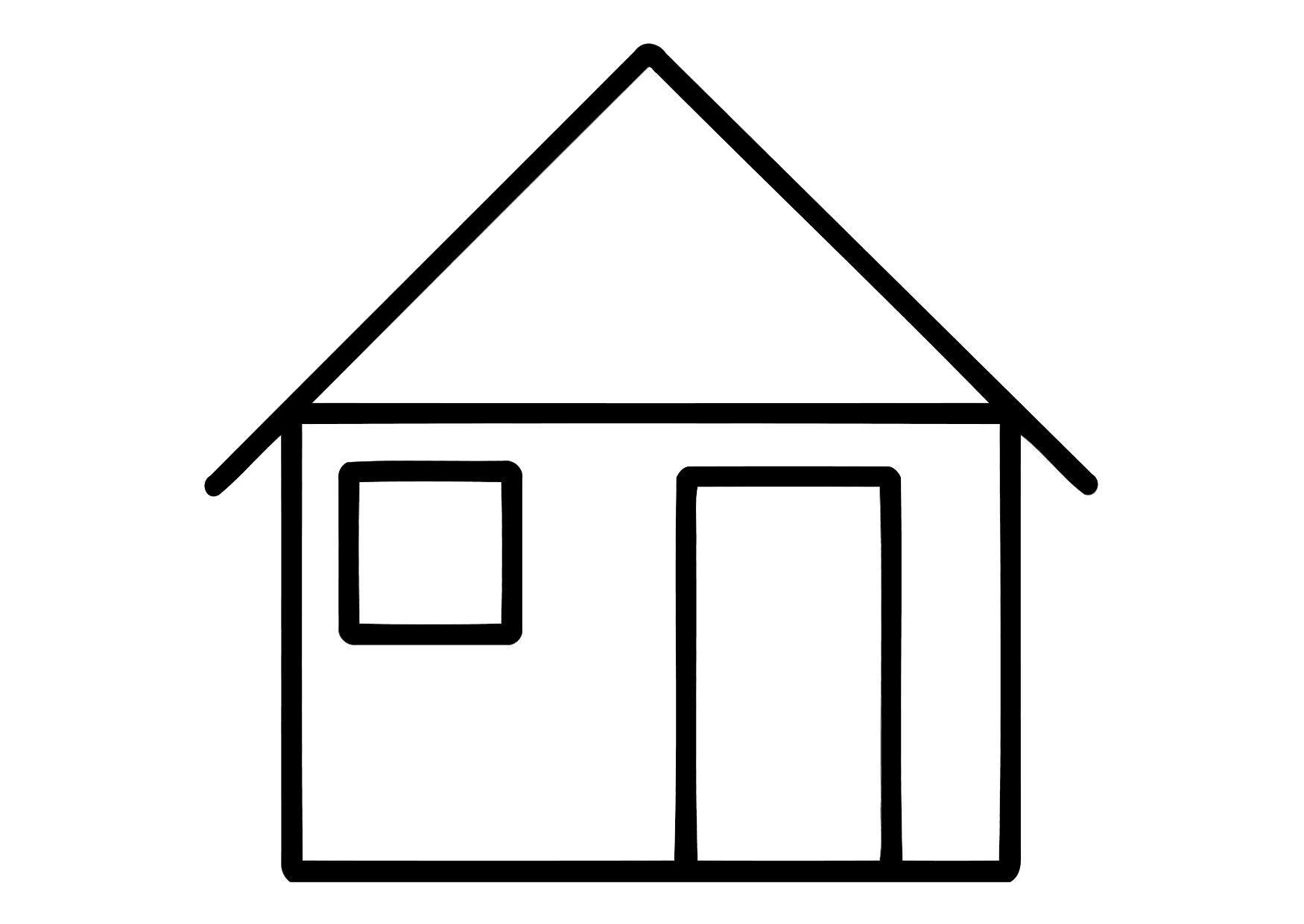 Kleurplaat Huis Afb 11324