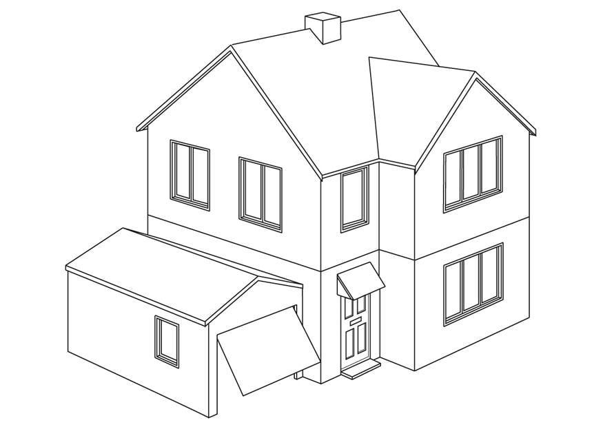 Kleurplaat Nieuw Huis Kleurplaat Huis Afb 9454 Images