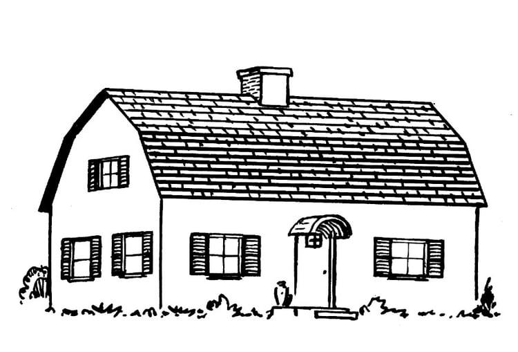 Kleurplaat Huis Afb 15947