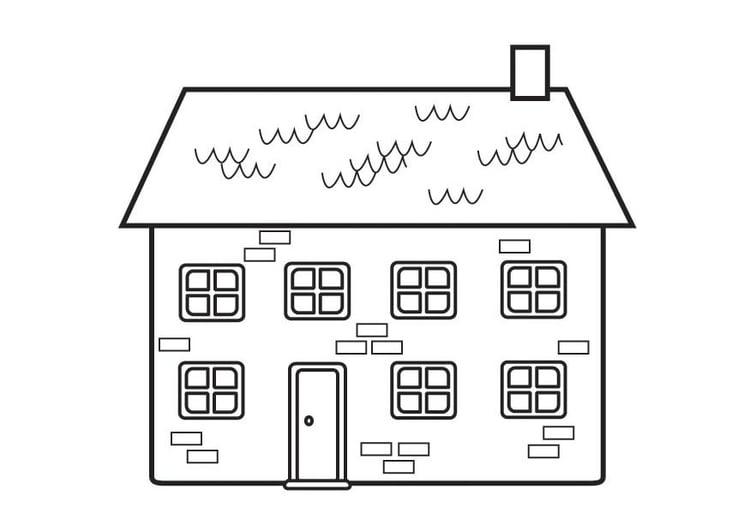 Kleurplaat Huis Afb 23129