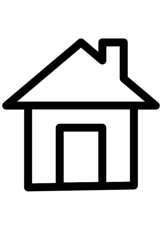 Kleurplaat Huis Afb 28263