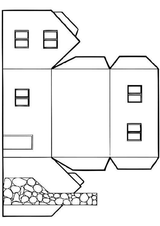 Kleurplaten Nieuw Huis.Kleurplaat Huis Afb 12828