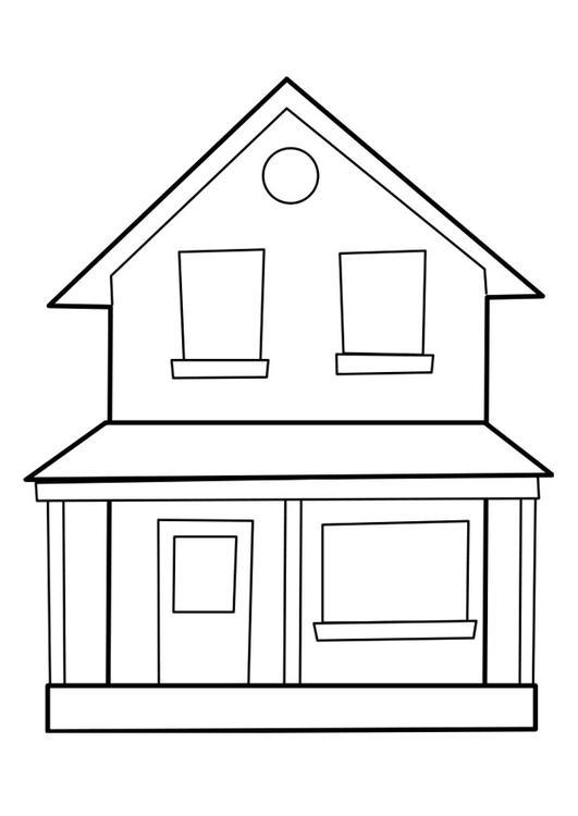 kleurplaat huis p22849