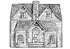 Kleurplaat huis