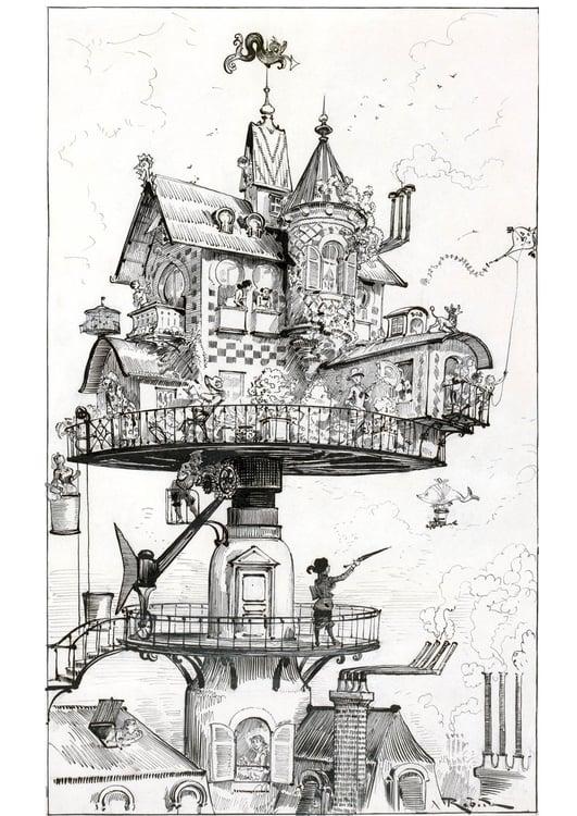 Kleurplaat Huis Van De Toekomst 1883 Afb 14777 Images