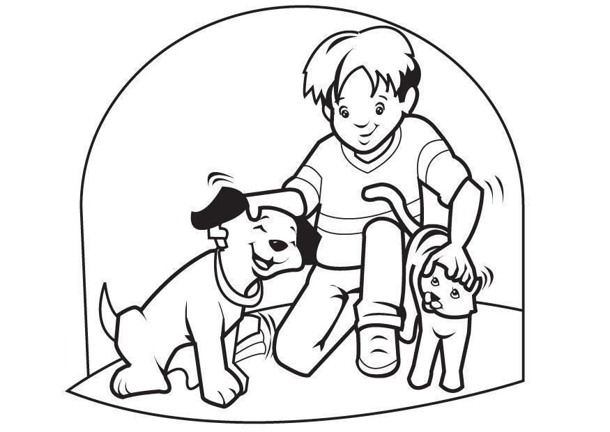 Kleurplaten Van Huisdieren.Kleurplaat Huisdieren Hond En Kat Gratis Kleurplaten Om Te