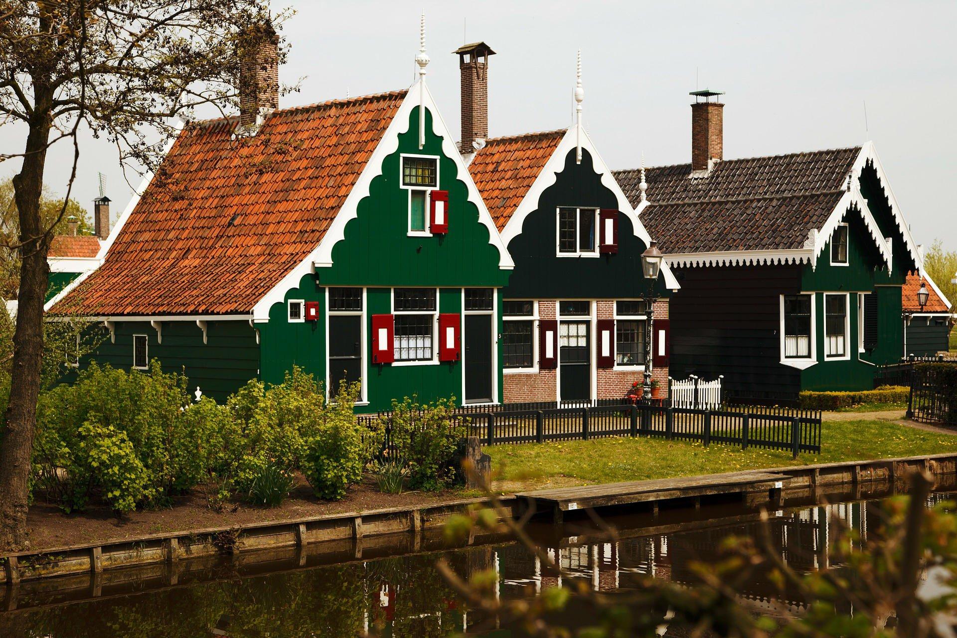 Kleurplaten Van Huizen : Kleurplaat huizen afb