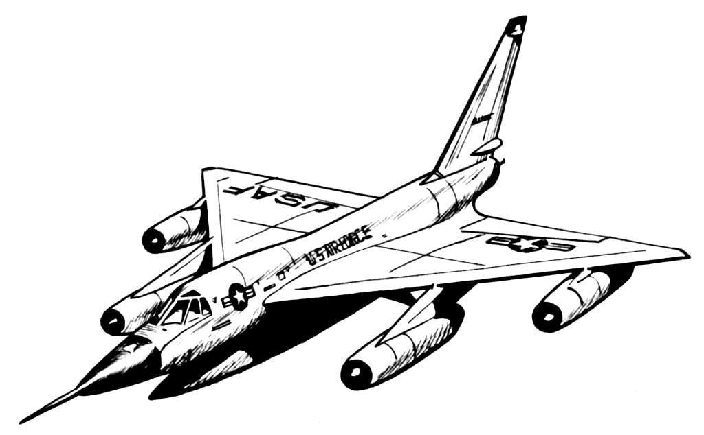 kleurplaat hustler vliegtuig afb 16027