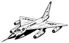 Kleurplaat Hustler - vliegtuig