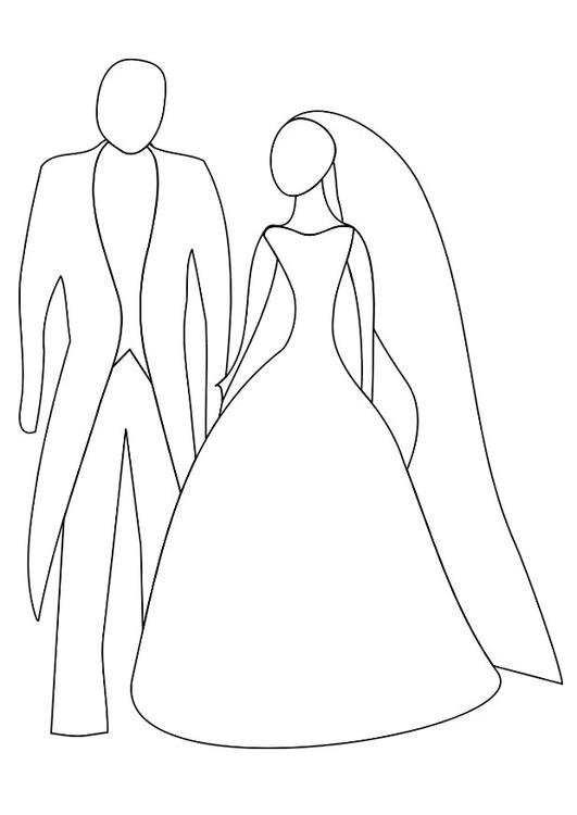Tekening Van Een Bruid En Bruidegom Archidev