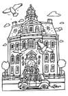 Kleurplaat huwelijk in stadhuis