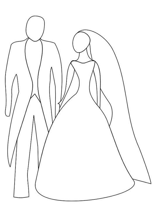 Kleurplaat Huwelijk Afb