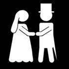 Kleurplaat huwelijk