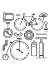 Kleurplaat iconen - fiets