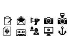 Kleurplaat iconen