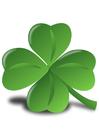 Afbeelding Iers klavertje - Shamrock