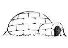 Kleurplaat iglo