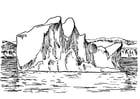 Kleurplaat ijsberg