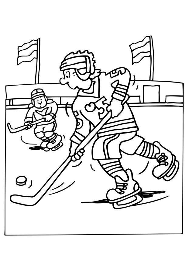 kleurplaat ijshockey afb 6508 images. Black Bedroom Furniture Sets. Home Design Ideas