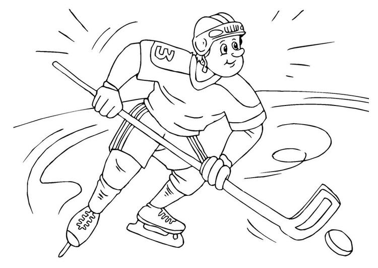 Kleurplaat Ijshockey Afb 25984