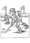 Kleurplaat ijshockey