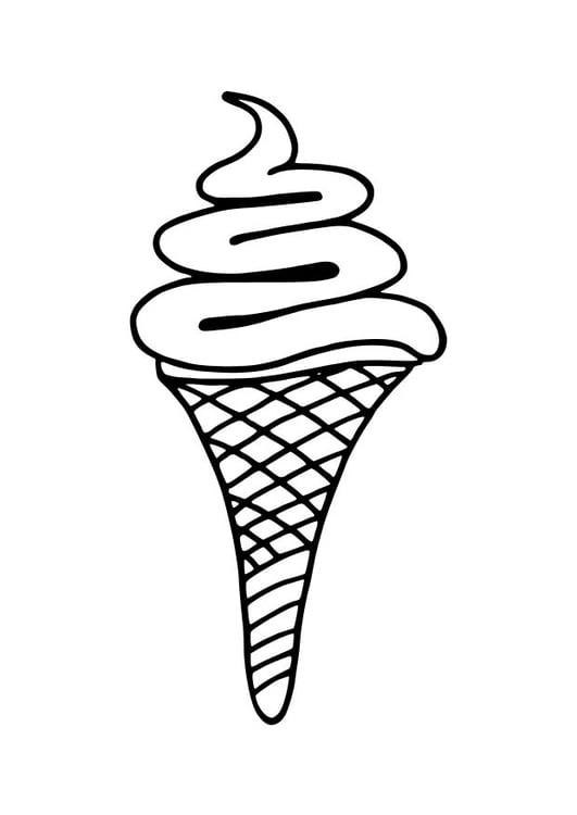 kleurplaat ijsje afb 10236