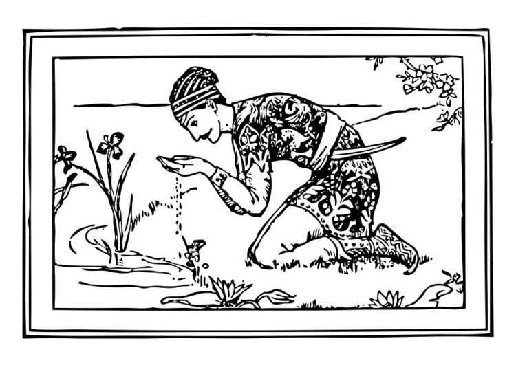 Kleurplaat indische prins afb 17421 for Indische schirme