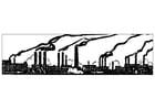 Kleurplaat industriele vervuiling