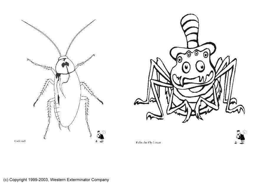 Fantasie Dieren Kleurplaten Kleurplaat Insecten Gratis Kleurplaten Om Te Printen