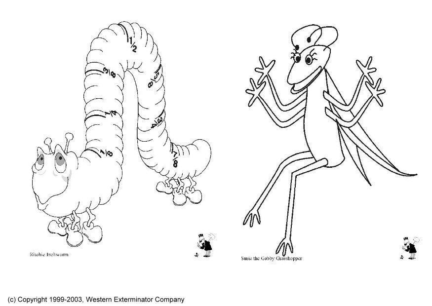 Dibujos De Insectos Para Colorear: Kleurplaat Insecten