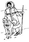 Kleurplaat inuït - eskimo
