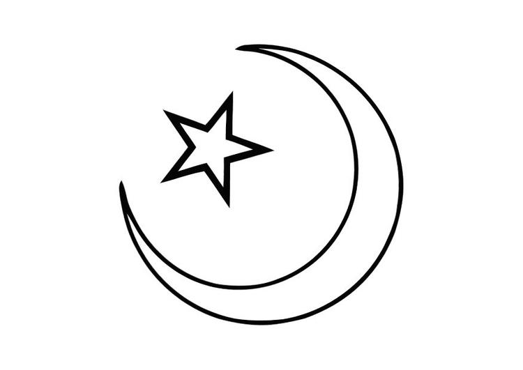 Kleurplaat Islam Afb 11273