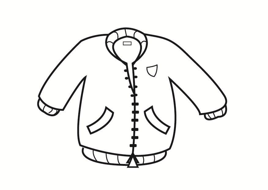 kleurplaat jas afb 23336