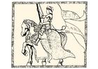 Kleurplaat Jeanne d'Arc
