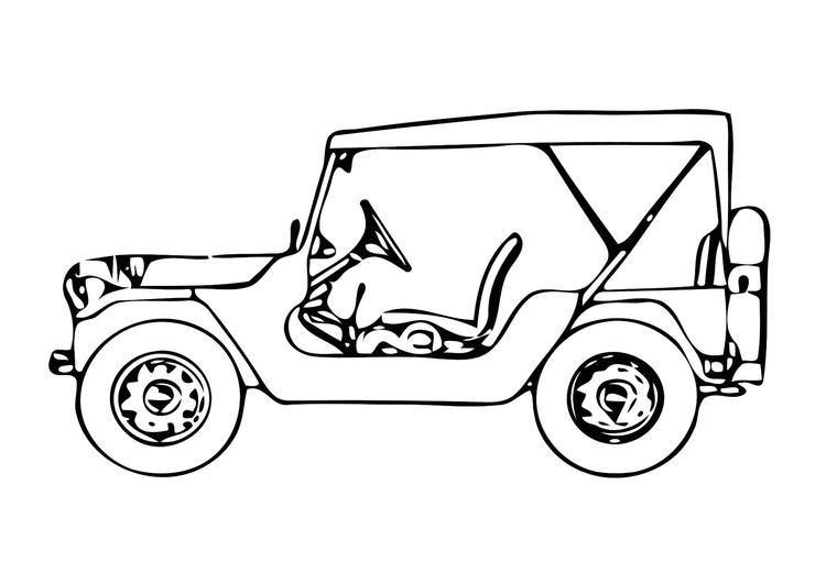 Kleurplaten Auto Jeep.Kleurplaat Jeep Afb 11327