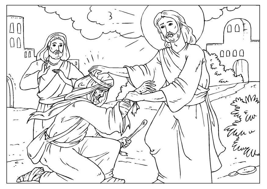 kleurplaat jezus geneest afb 25922