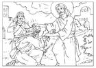 Kleurplaat Jezus geneest