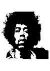 Kleurplaat Jimi Hendrix