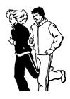 Kleurplaat joggen