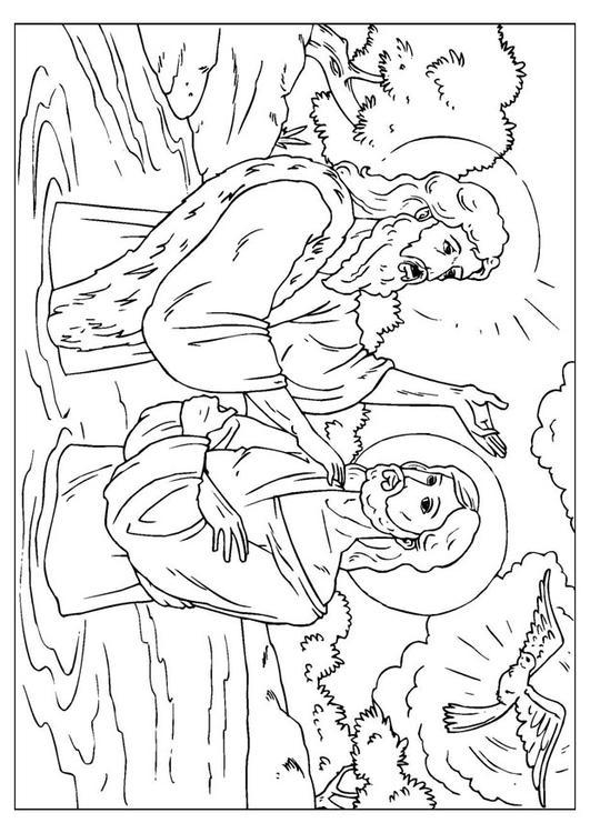 Kleurplaat Johannes De Doper Afb 25914