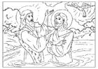 Kleurplaat Johannes de Doper